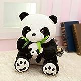 LNNXY Panda muñeca Padre-Hijo Panda Peluche Panda Almohada muñeca Regalo para niños y niñas 30cm...