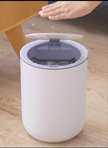 VOLERO' SHOPPING ONLINE, Pattumiera con Sensore di Posizione per Apertura Automatica, Modello Poseidone, capacità 8 Litri. (Bianco)