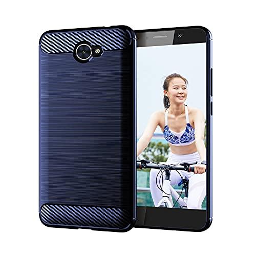 Suave a prueba de golpes TPU Teléfono Carcasas Protectivas Smartphone Conchas Cómodas Cubiertas de Teléfono Móvil Caso Ambiental con Parachoques para Huawei Y7 2017 Smartphones
