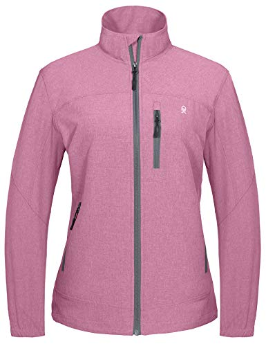 Little Donkey Andy Women's Stretch Jacket, Lightweight Windbreaker for Hiking Travel Work Golf, Quick-dry, UV Protection Rose Size M