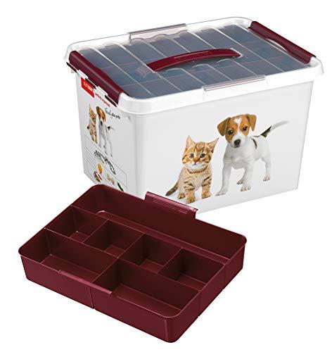 Q-line Huisdieren Opbergbox - 22L - Incl. inzet met vakverdeling