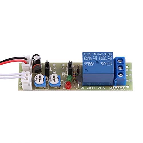 Temporizador de ciclo ajustable Retardo On/Off Interruptor Módulo de relé DC 5V / 12V / 24V 0-15min / 0-60min(DC 12V 0-60 minutos ajustable)