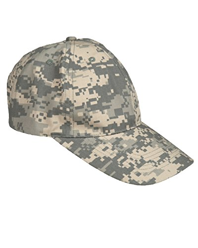 CAMOUFLAGE RIPSTOP BASEBALL CAP -- ONE SIZE -- ADJUSTABLE (ACU DIGITAL)
