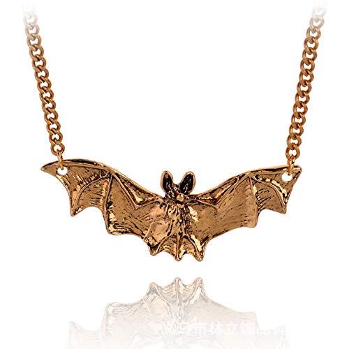 QAZXCV Cool Bate Collar Mujer Hombre Collar joyería Halloween gótico Animal Collar Collar Hombres Punk declaración joyería Accesorios,B