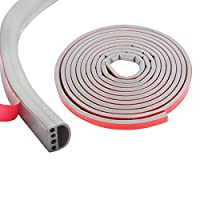 各種サイズ厳選 シリコーンゴム素材 隙間テープ すき間テープ 窓用エアコン防音 防水 厚手静音テープ 気密防水パッキン 14mm(幅)x12mm(厚さ)-グレー