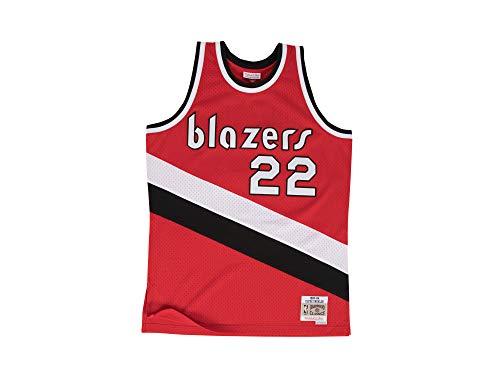 Mitchell & Ness Clyde Drexler #22 Portland Trail Blazers 1983-84 Swingman NBA Trikot Rot, L