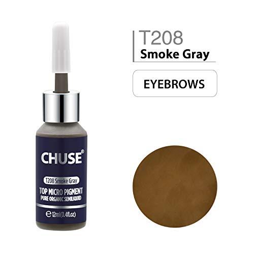 CHUSE T208 Rauchgrau Microblading Micro Pigment Permanent Make-up Tattoo Ink Kosmetik Farbe bestanden SGS, DermaTest 12ml (0.4fl.oz)