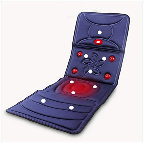 ZXY Materassino massaggiante Shiatsu, con 8 vibromotores Lombare e Termica, Sedile Tappeto massaggiante Elettrico, Riscaldato, Massaggio, Telecomando