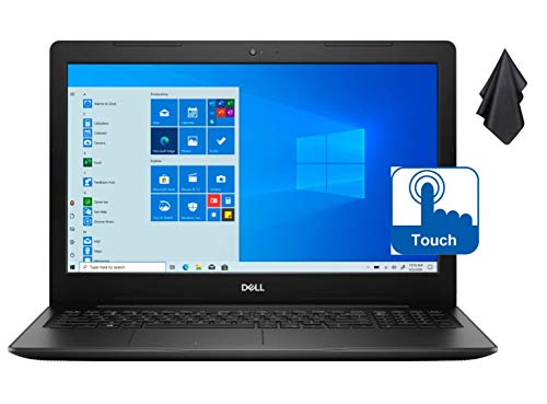 "2021 Newest Dell Inspiron 15 3593 Laptop, 15.6"" HD Touchscreen, 10th Gen Intel Quad-Core i7-1065G7 Processor up to 3.90 GHz, 16GB RAM, 512GB PCIe NVMe SSD, Wi-Fi, Webcam, Windows 10 S + Oydisen Cloth"