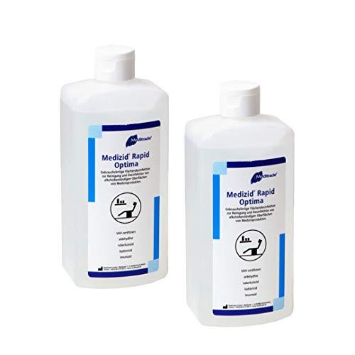 2 x 500ml Medizid Rapid Optima Desinfektionsmittel - zur Reinigung und Desinfektion von Oberflächen I wirkt bakterizid, levurozid wirksam gegen Viren