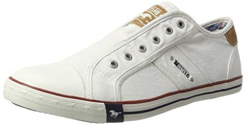 Mustang 4058401, Herren Sneakers, Weiß (1 Weiss), 41 EU