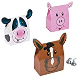 Fun Express - Farm Party Favor Boxes for Birthday - Party Supplies - Containers & Boxes - Paper Boxes - Birthday - 12 Pieces