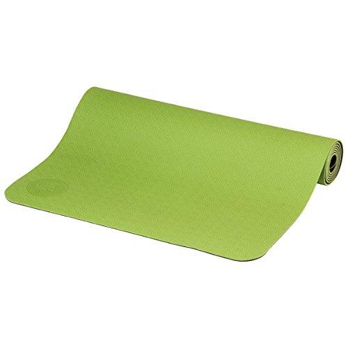 Yogamatte LOTUS PRO LIGHT, leichte, umweltfreundliche TPE Matte, sehr rutschfest und gut für Hot Yoga geeignet (grün/dunkelgrün)