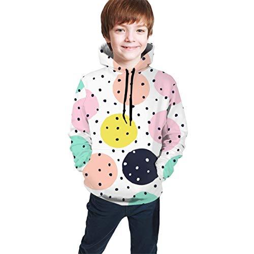 EYSKJ Kapuzenpullover Polka Dot Pattern Youth Boys Girls 3D Print Pullover Hoodies Hooded Seatshirts Sweater