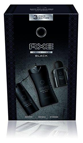 Axe Geschenkset Black Bodyspray, Duschgel & Aftershave, 1er Pack