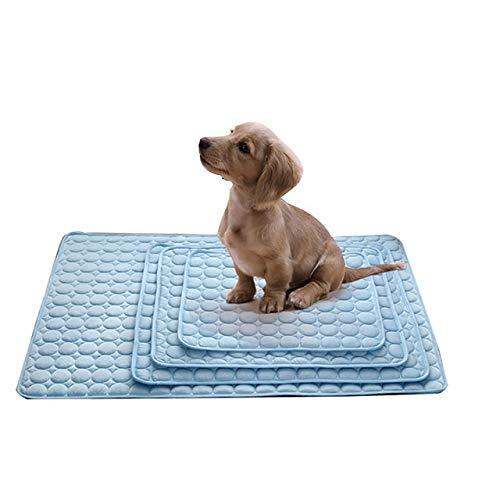 Aqiong KAERMA zomer koelmatten Pet Ice Pad voordelige hond Mat Cat Litter kat hond colling deken draagbare Tour-Camping Yoga slapen koele huisdieraccessoires (kleur: blauw, maat: 102 * 70cm)