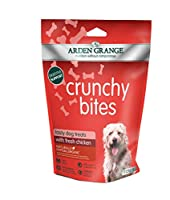 Complementary dog food Hypoallergenic Preservative-free Free from unwanted ingredients Perfect as a reward treat Included components: 1 bag of Crunchy Bites Chicken