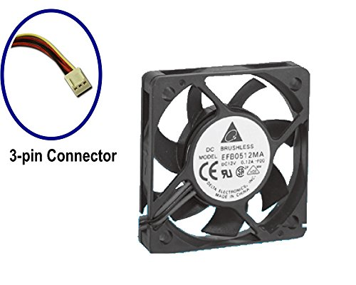 Ventilador Axial Delta efb0512ma, 50x 50mm, 3-pin de la caja/de procesador Ventilador 1 pieza