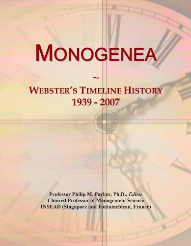 Monogenea: Webster's Timeline History, 1939 - 2007