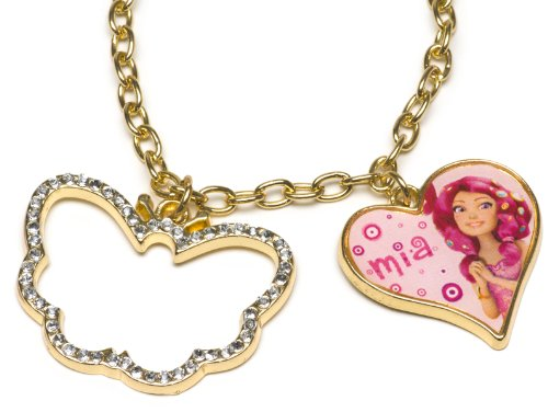 Joy Toy 118070 'Mia and Me' Neck Chain with Heart/Butterfly Pendant with Rhinestones on Backer Card