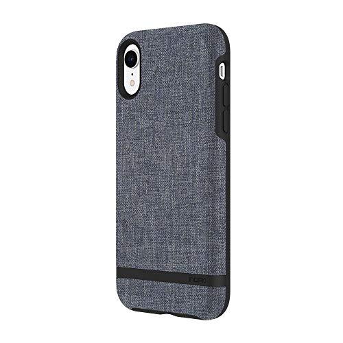 Incipio Carnaby - Custodia per iPhone XR, serie Esquire, con design co-modellato e finitura in cotone ultra morbido, colore: Blu