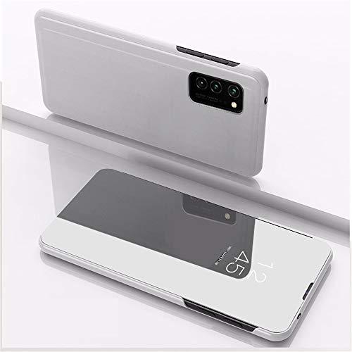 Capa flip XYX para S20 FE, ultra fina, transparente, S-View, capa espelhada para Samsung Galaxy S20 FE/S20 FE 5G, prata