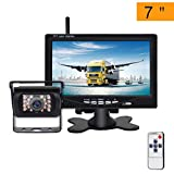 Telecamera Retromarcia Wireless con 7 Pollici Monitor LCD, 12 V-24 V Digitale Assistenza a...
