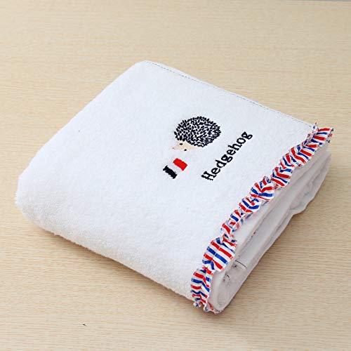 DSJDSFH badhanddoek, katoen, geborduurd, super zacht, absorberend, zacht, creatief en comfortabel, duurzaam, 70 x 140 cm