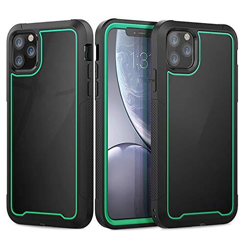 Carcasa resistente a prueba de golpes transparente para iPhone 11 Pro Max 7 8 6S 6 Plus Xs Max Xr X Shock Absorción Bumper Carcasa híbrida, para iPhone 8 Plus, color verde oscuro