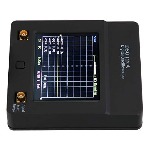 Osciloscopio Digital Portátil, Kit de Osciloscopio de Almacenamiento de Pantalla Táctil Digital Impedancia de Entrada 1Mω Batería de Litio 1200Mah