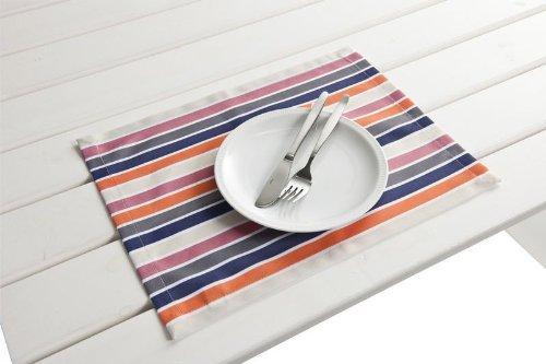 haga-wohnideen.de Lot de 4 sets de table d'extérieur - Lavables - 30 x 40 cm - Violet/orange