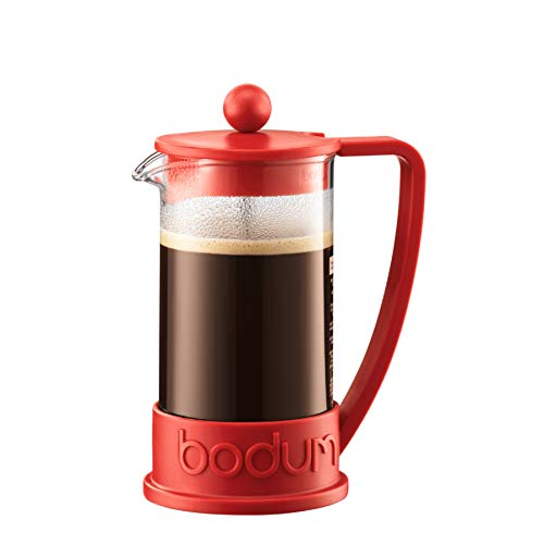 Bodum 10948-294 Cafetera émbolo, 0.35 Liters, Stainless Steel, Rojo