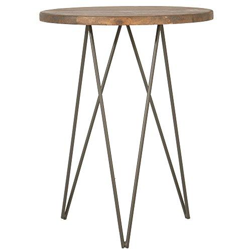 Indhouse Plat – Table de Restaurant loft de Style Industriel en Tige en Acier et Bois emerado