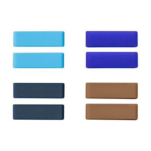 ULLCHRO Unisex Kautschuk Armband Gurtschlaufen Packungen mit 8 22mm Color B