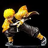 Demon Slayer Figura Agatsuma Zenitsu Tanjiro Versión Muñeca Modelo de juguete Anime (Kimetsu No Yaib...