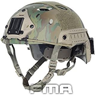 H World Shopping FMA Tactical Airsoft Adjustable Fast Protective Helmet PJ NVG Mount for Tactical Airsoft Paintball Multicam