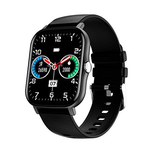 BNMY Smartwatch, Reloj Inteligente Impermeable IP68 para Hombre Mujer, Pulsera Actividad Inteligente con Pulsómetros, Monitor De Sueño, Podómetro Reloj Deportivo para Android iOS,Negro