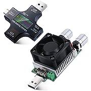Eversame 35W DC 3V-21V Adjustable Constant Current Load, USB Charging Current Detector Discharging Aging Electronic Resistance