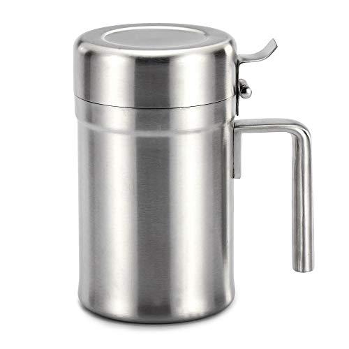 Stainless Steel Oil Dispenser Oil Pot Olijfolie Can Comestible Olie doseerfles Lekvrije Oil Container for Keuken/Koken/Restaurant/BBQ Home Kitchen supplies (Size : S)