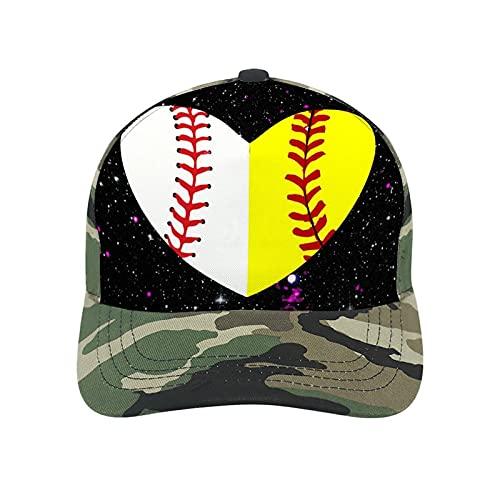 BMX Biker Silhouettes Berretto da baseball regolabile per uomini e donne, divertenti cappelli casual, Camouflage-baseball e Softball Galaxy, S/L