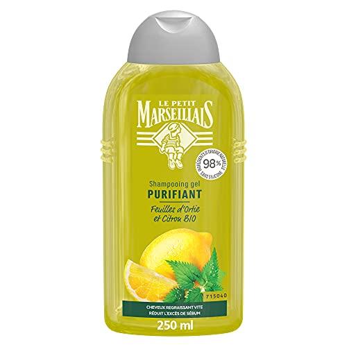 Le Petit Marseillais Shampooing Purifiant, Cheveux Regraissant Vite, Feuilles D'Ortie Bio & Citron Bio, 283,9g
