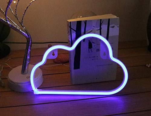 Led Neon Sign Light Lamp, ZDQHLL Neon Light Sign with Base, Led Neon Lamp for Table Bedroom and The Best Gift Choice
