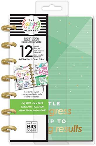 Happy Planner 12-Month Dated Mini Planner 5.125u0022X7.5u0022-Budget Money, July 2019 - June 2020