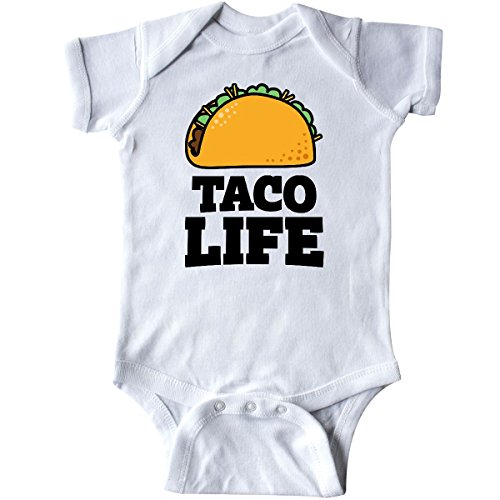 inktastic Taco Life Infant Creeper 6 Months White