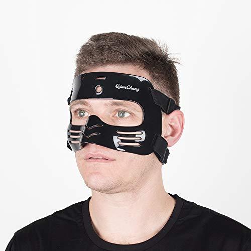 Qiancheng - Protector facial para la nariz, protector facial L2 negro con relleno de silicona