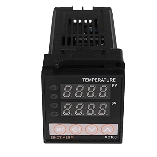 KoelrMsd Termopar Universal de Salida analógica de 0-10 V Entrada PT100 termostato Controlador de Temperatura PID Digital para Calor frío con Alarma