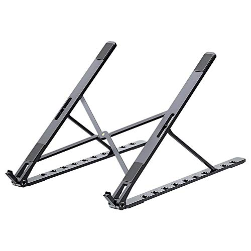 Auveach Laptop Stand Aluminum Computer Riser Adjustable Metal Holder Compatible Suitable for Most Computers Gray