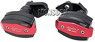 Red Motorcycle Body Frame Sliders Crash Protector Falling Protection For SUZUKI GSX-S1000 2015-2016