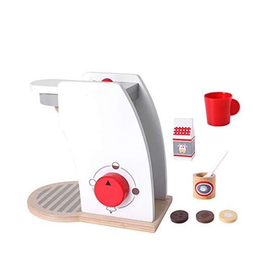 Floridivy Kinderen Speelgoed Mixer Pop Up Toaster Koffiezetapparaat Houten Pretend Play Keuken set met accessoires