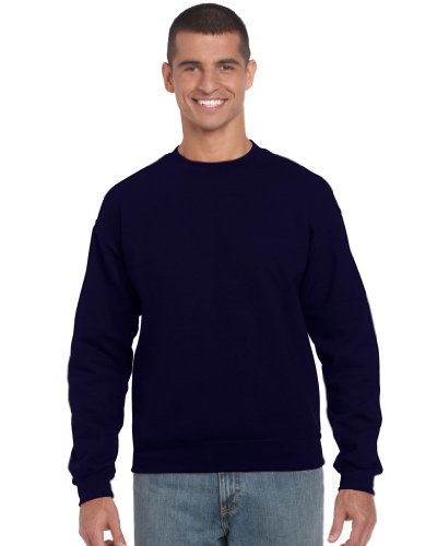 GILDAN Suéter DryBlend, de cuello redondo, hombre, azul marino, xx-large